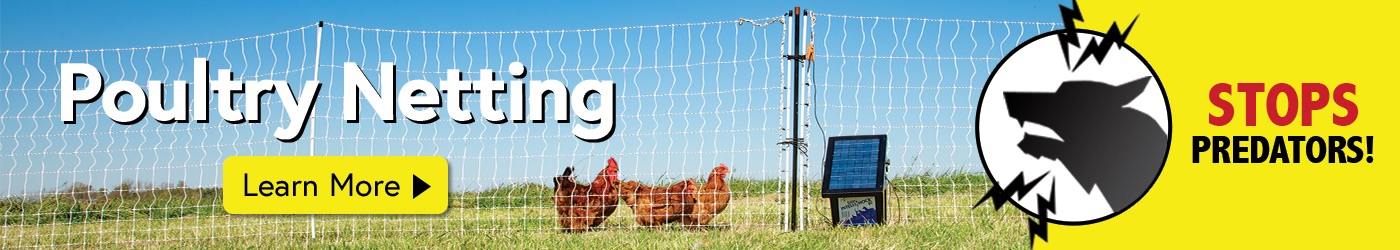 Electric Fence for Poultry and Chickens