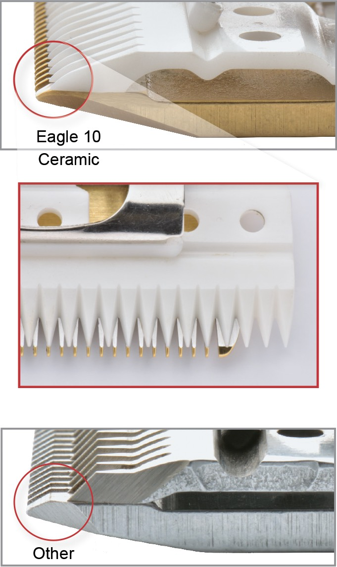 Eagle Small Clipper Blades for Show Animals and Pet Grooming