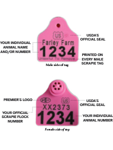 Ear Tags for USDA Scrapie Eradication Program
