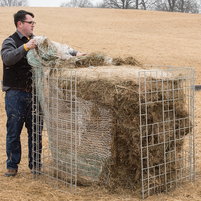 3. Adding a large round bale
