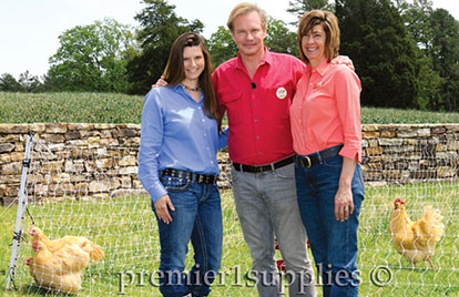 Rachel, P. Allen Smith and Stephanie