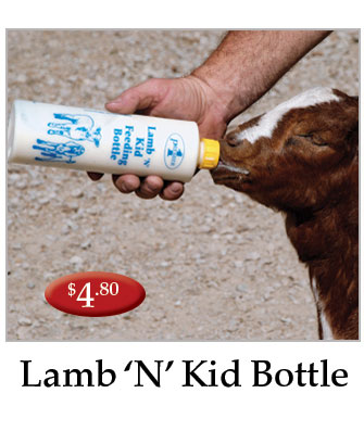 Lamb and kid bottle