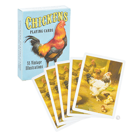 Vintage Chicken Playing Cards $8.25