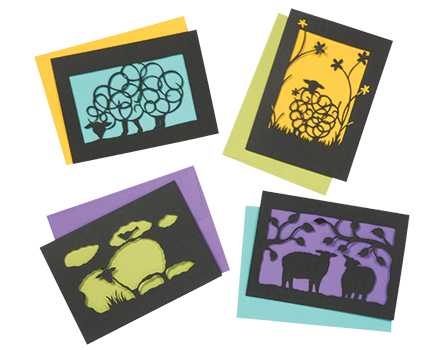 Laser Cut Sheep Cards