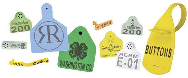 Custom Ear Tag Printing examples