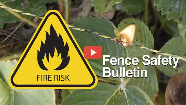 Fence Energizer Fire Risk Video