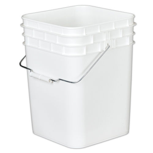 Square Bucket without lid, 4 gallon - Premier1Supplies