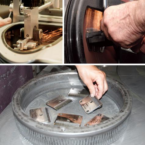 Premier's quality resharpening service using proper machines or methods.
