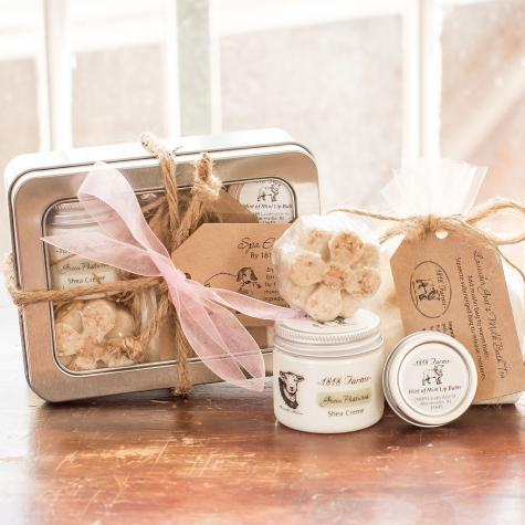 Includes: Bath Truffle, Shea Creme, Lip Balm & Bath Tea