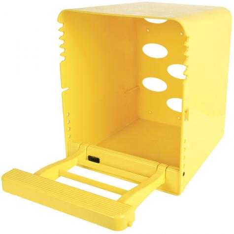 ChickBox (with perch only), yellow