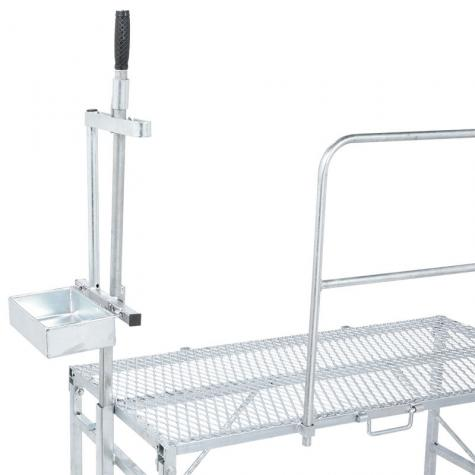 Milking Stand with Headpiece<br>(shown with optional side rails)