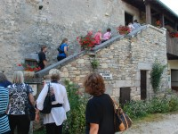 Quaint and beautifully French, our group of 30 ascended the stone staircase to the family run restaurant.