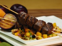 Moroccan Spiced Lamb Kebobs with a Summertime Grilled Chutney
